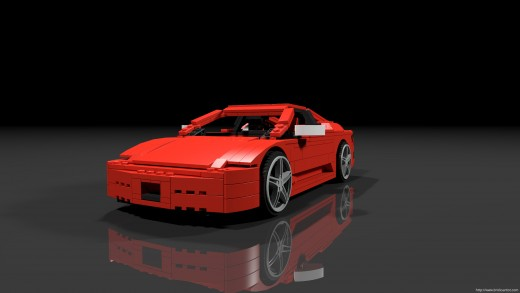 The LEGO Ferrari. Almost as elegant as the real thing.