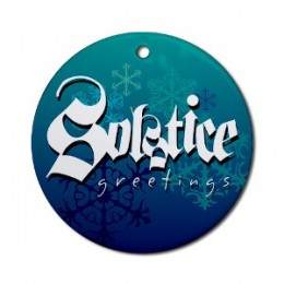 Solstice Greetings - This ornament could be hung on a tree or in a window to add a festive touch. Another nice selection for the holiday would be something in the order of the one below.